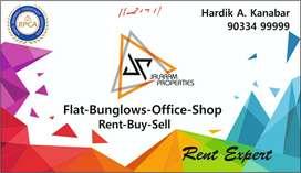 Brand New 3Bhk Flat on rent Jalaram society university road