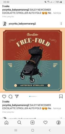 Jual stroller terbaru dapat melipat otomatis