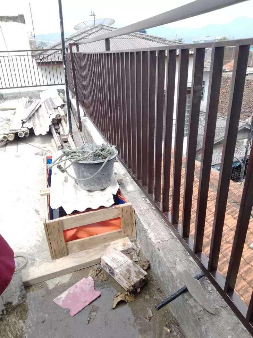 Balkon besi minimalis bengkel las listrik Bandung