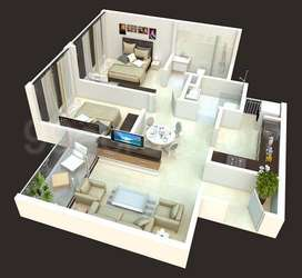 Brand new 2 BHK in branded project