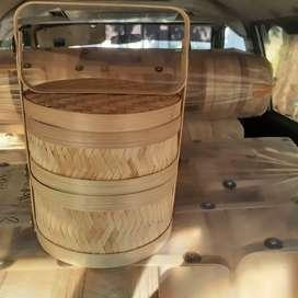 Rantang bambu susun