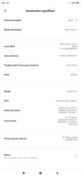 REDMI NOTE 7 3/32 UNIT ONLY