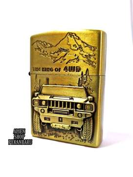 korek api Zippo Gold the king of 4WD