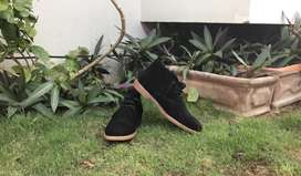 Kangol Black Suede Boots