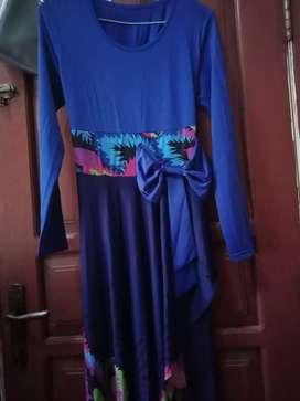 Gamis motif daun/ cod baju gamis
