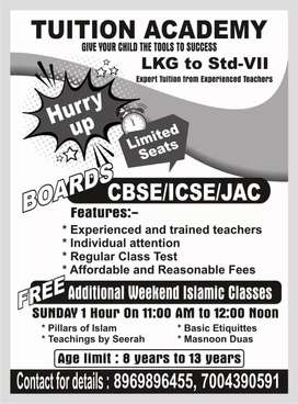 Tuition Classes Available for kids.