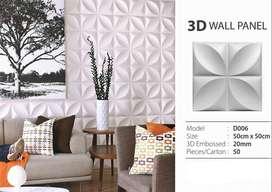 WALLPANEL 3D PVC DEKORASI DINDING UKURAN 50cm x 50cm