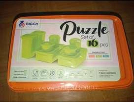 Puzzle set of 16pcs (wadah plastik)