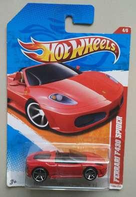 Hotwheels Ferrari f430 spider red