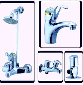 Sanitary fitting wall shower mixture set luxury style