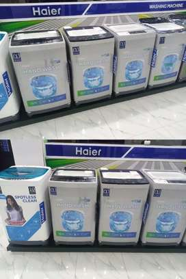 One touch technology  of haier washing machin
