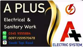 A Plus electrical & sanitary work Cont.