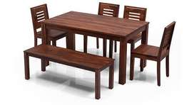 Dining Set Brand new 6 Seater in Solid Sheesham wood.Urban Lad Piece