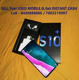 Sell used mobile & Instant GET CASH. Samsung Galaxy S10 Plus,Blue.