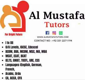 Experienced Male & Female Home/Online Tutors Availabe For All Levels