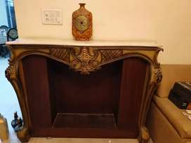 Wooden and marble console