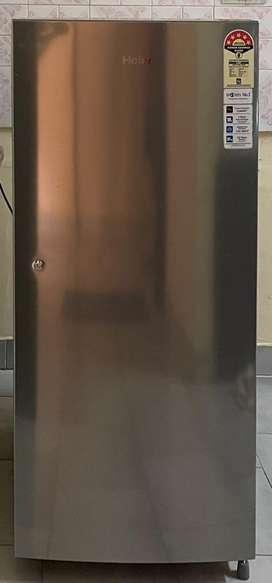 Haier 195L 5 Star Single Door Refrigerator (HRD1955CSSE, Shiny steel)