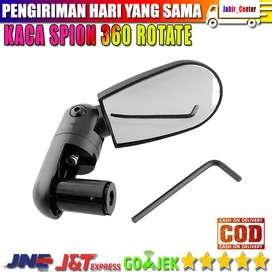 Kaca Spion 360 Rotate Handlebar Sepeda 1PCS - LY4437 - Black