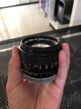 Lensa manual canon fd 50mm 1.4
