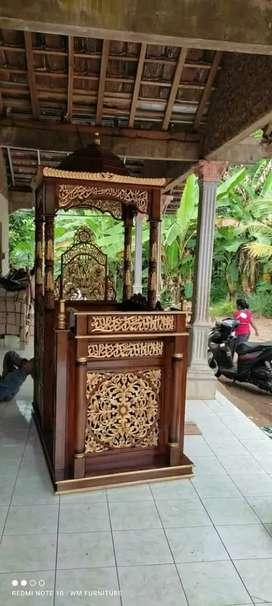 Jual mimbar masjid ukir Jepara