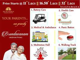 RETIREMENT HOMES WITH COMMUNITY KITCHEN ,1BHK FLATS @16.5 L GANNAVARAM