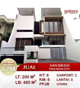 Turun Harga Rumah 3lt San Diego Pakuwon City, Mulyorejo
