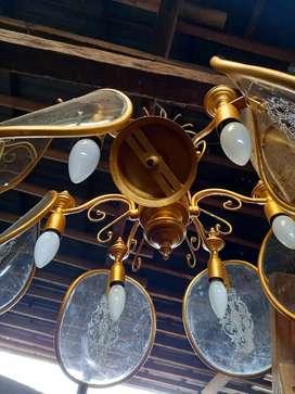 Lampu Gantung Cabang 6 Kuno