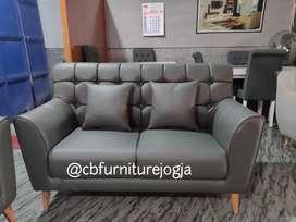 Sofa custom Model, dua seater oscar kancing