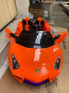 Mobil Aki Mainan Anak Remot PMB 6869 Lamborghini Orange Edition Bdg