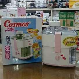Juicer Cosmos CJ355-Pelumat-pengejus buah-0.5L-160W-wadah mika-praktis