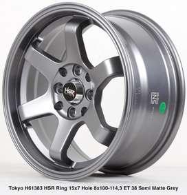 Velg mobil murah TOKYO H61383 HSR R15X7 H8X100-114,3 ET38 SMG