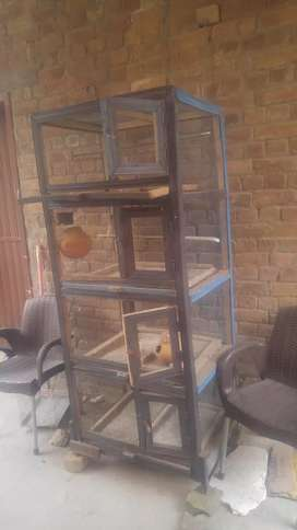 Heavy and strong wooden 4 stories cage
