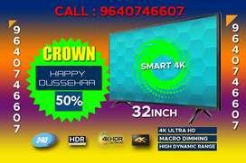 """32""""SMART(4K)1080PIXELS 2YRS WARRANTY WITH Bill full HD"""