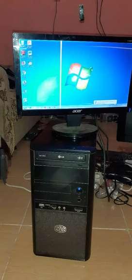 Jual cepat Core 2 duo murah plus monitor