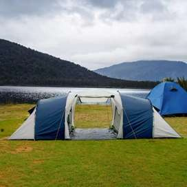 Toilet tent, fishing boats, camping tent, fishing rod reel fishing net