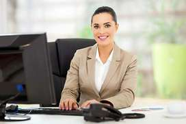 Require Girl For Receptionist