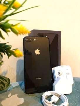 Iphone 8 plus 256gb grey super duper istimewah