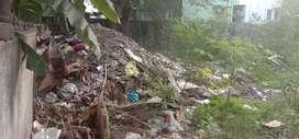 Debris demolished building waste