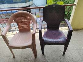 2 plastic single seater chair for sell