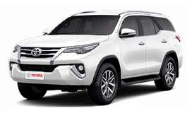 Toyota Fortuner on Rent New Shape with Driver