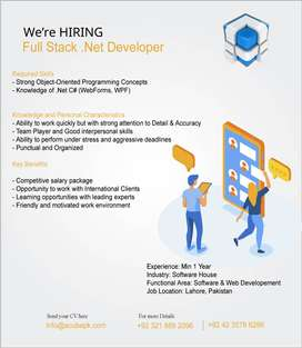 Required senior dot net developer with 3 to 4 years experienced