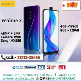 REALME X Mobile now avl @ N4U mobiles@ 0% interest
