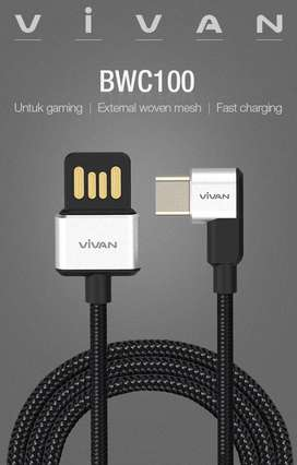 VIVAN Kabel BWC100 Type C Kabel Data Fast Charging 3A Gaming