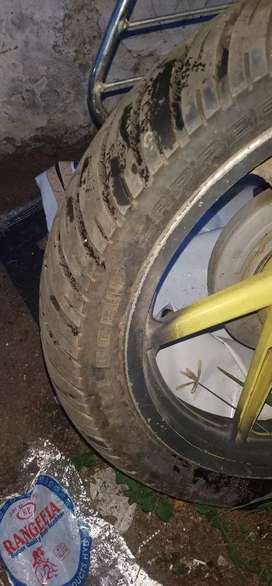 MRF zapper pulsar 150 back tyre with tube...