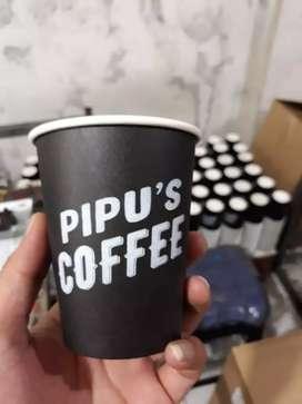 Sablon gelas kertas dengan logo anda PAPER CUP 6.5oz