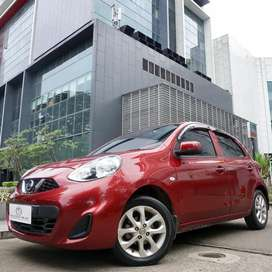 NISSAN MARCH 1.2 AT 2014 RED ON BLACK FACELIFT