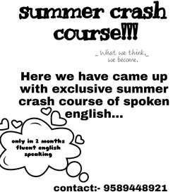 Summer crash course
