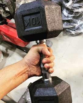 Hexa Dumbbell, Adjustable Dumbbell, Dumbbel plates, Rod, Benches