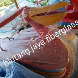 burung pelikan sepeda air fiberglass, sepeda air fiberglass bebekan ne