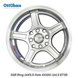 Velg SSR R14x5.5 h4x100 ET 35 Untuk Mobil Calya, Alya, Karimun,Vicanto